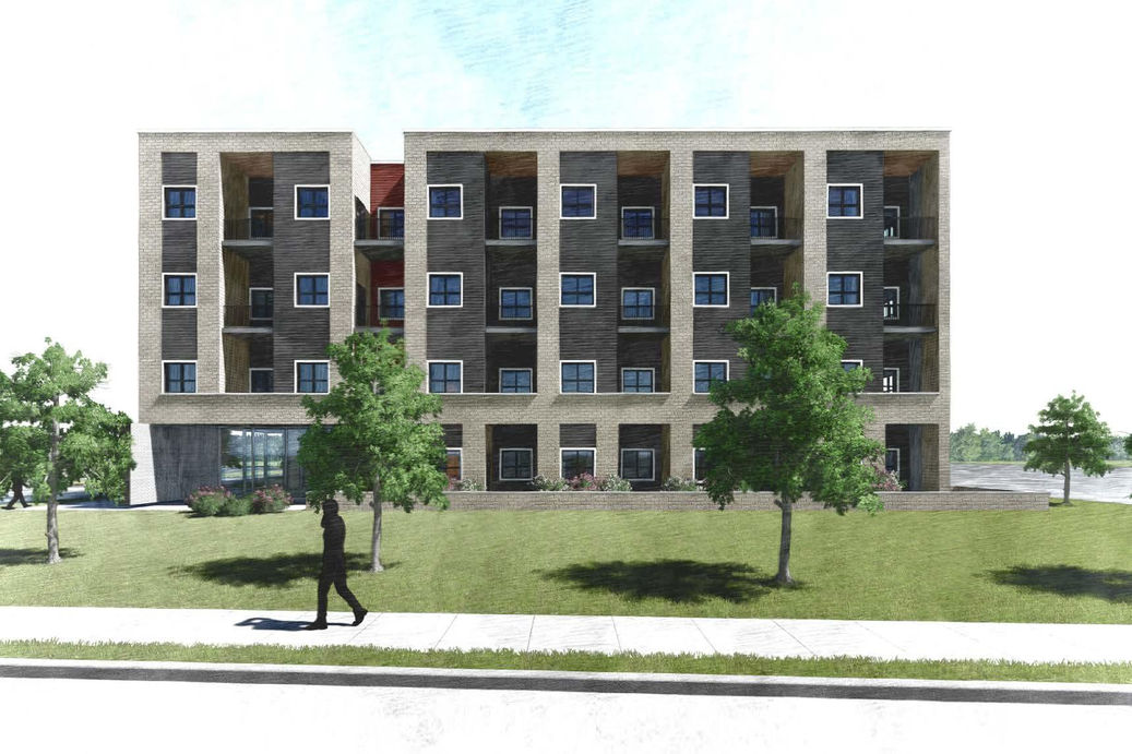 Proposed affordable Housing development project in London Ontario - proposed rendering
