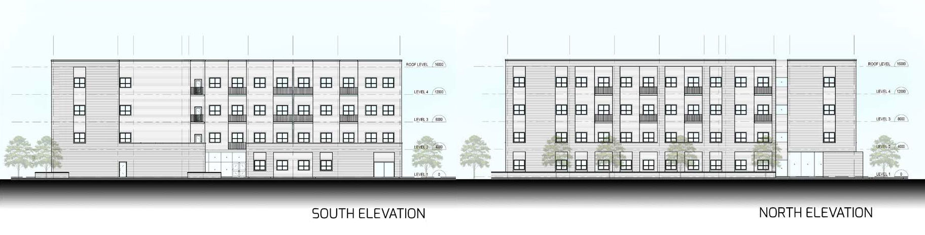 Proposed building rendering for 440 Clarke Road affordable housing development project in London Ontario.