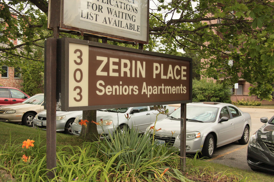 Photo of Zerin Place sign at 303 Commissioners Road West in London.